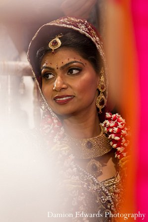 Indian wedding ceremony bride portrait in New Brunswick, NJ Indian Wedding by Damion Edwards Photography