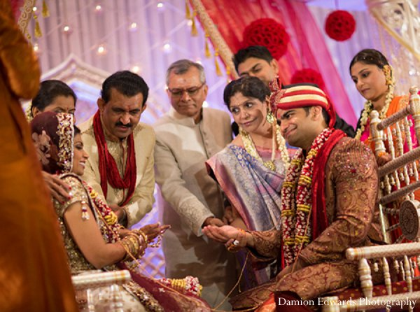 Indian wedding ceremony groom bride traditions in New Brunswick, NJ Indian Wedding by Damion Edwards Photography