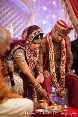 Indian wedding ceremony groom bride in New Brunswick, NJ Indian Wedding by Damion Edwards Photography