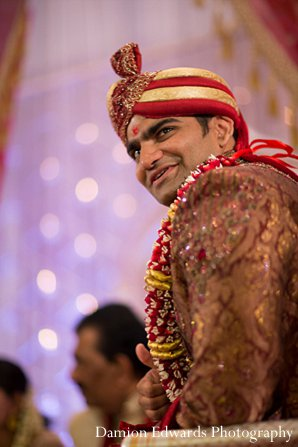 Indian wedding ceremony groom sherwani in New Brunswick, NJ Indian Wedding by Damion Edwards Photography
