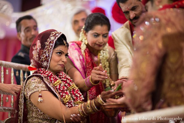 Indian wedding ceremony traditions bride in New Brunswick, NJ Indian Wedding by Damion Edwards Photography