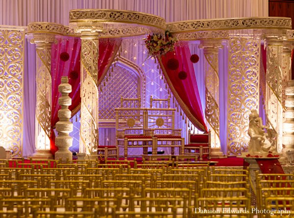 Indian wedding ceremony venue mandap in New Brunswick, NJ Indian Wedding by Damion Edwards Photography