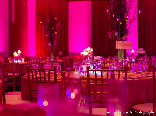 Indian wedding floral decor reception pink in New Brunswick, NJ Indian Wedding by Damion Edwards Photography