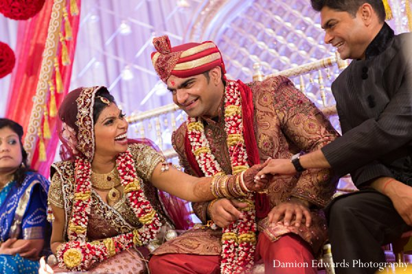 Indian wedding photography ceremony bride groom in New Brunswick, NJ Indian Wedding by Damion Edwards Photography