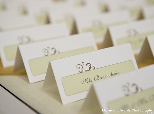 Indian wedding place cards invitations in New Brunswick, NJ Indian Wedding by Damion Edwards Photography