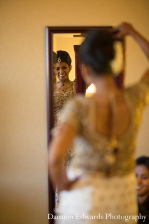 Indian wedding portrait getting ready bride in New Brunswick, NJ Indian Wedding by Damion Edwards Photography