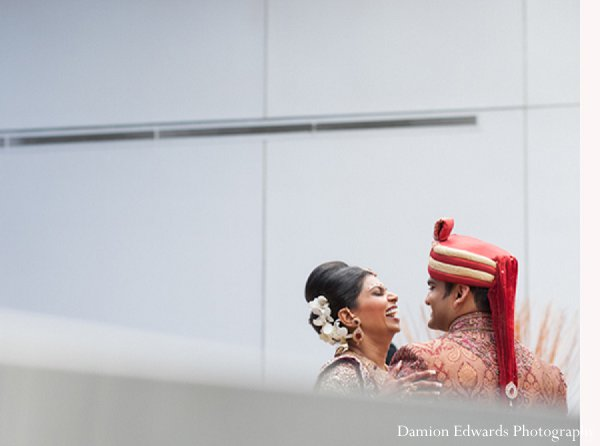 Indian wedding portrait photography groom bride in New Brunswick, NJ Indian Wedding by Damion Edwards Photography