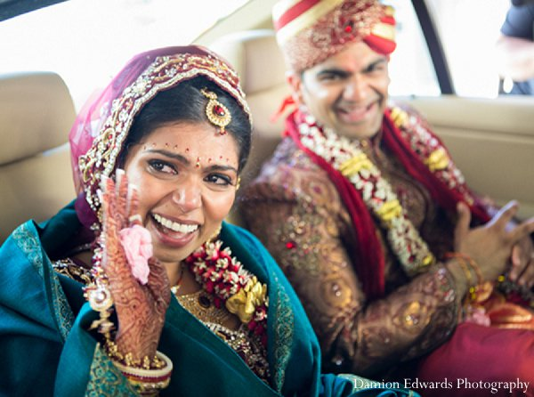 Indian wedding portriats groom bride in New Brunswick, NJ Indian Wedding by Damion Edwards Photography