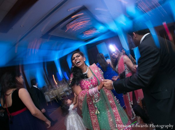 Indian wedding reception bride groom dance floor in New Brunswick, NJ Indian Wedding by Damion Edwards Photography