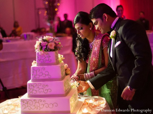 Indian wedding reception cake treats in New Brunswick, NJ Indian Wedding by Damion Edwards Photography