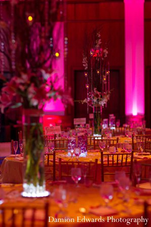 Indian wedding reception decor floral in New Brunswick, NJ Indian Wedding by Damion Edwards Photography
