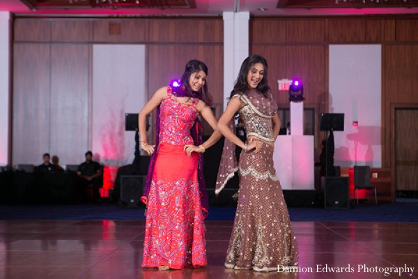 Indian wedding reception entertainment dancing in New Brunswick, NJ Indian Wedding by Damion Edwards Photography