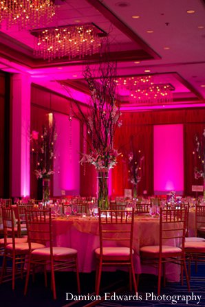 Indian wedding reception floral decor in New Brunswick, NJ Indian Wedding by Damion Edwards Photography