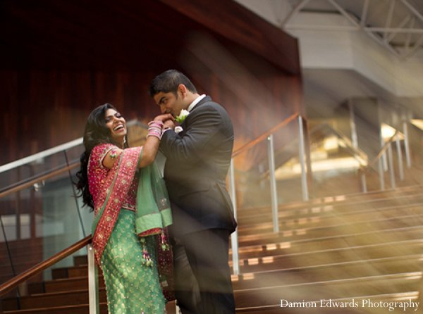 Indian wedding reception photography portraits in New Brunswick, NJ Indian Wedding by Damion Edwards Photography