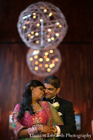 Indian wedding reception portrait groom bride in New Brunswick, NJ Indian Wedding by Damion Edwards Photography