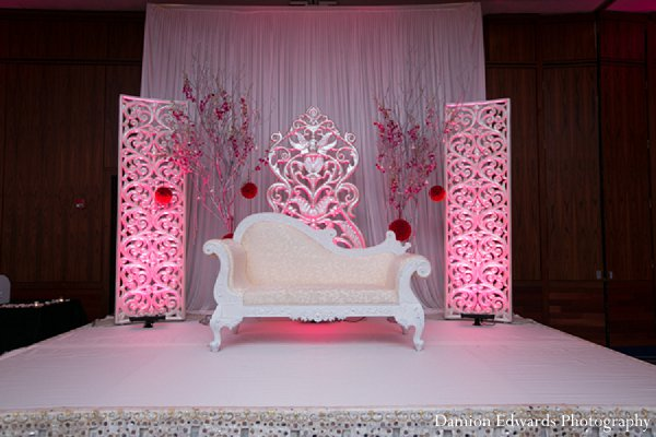 Indian wedding reception wedding stage in New Brunswick, NJ Indian Wedding by Damion Edwards Photography