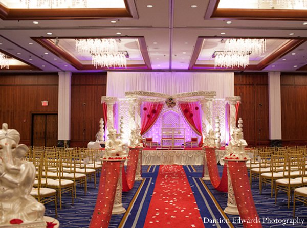 Indian wedding venue ceremony mandap in New Brunswick, NJ Indian Wedding by Damion Edwards Photography