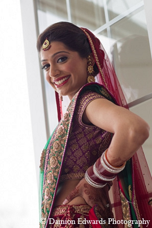 Indian wedding bridal fashion portraits in Rockleigh, New Jersey Indian Wedding by Damion Edwards Photography