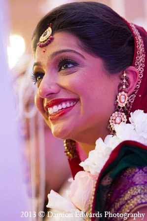 Indian wedding bride ceremony traditions in Rockleigh, New Jersey Indian Wedding by Damion Edwards Photography