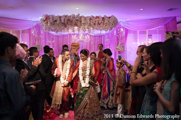 Indian wedding bride groom ceremony in Rockleigh, New Jersey Indian Wedding by Damion Edwards Photography
