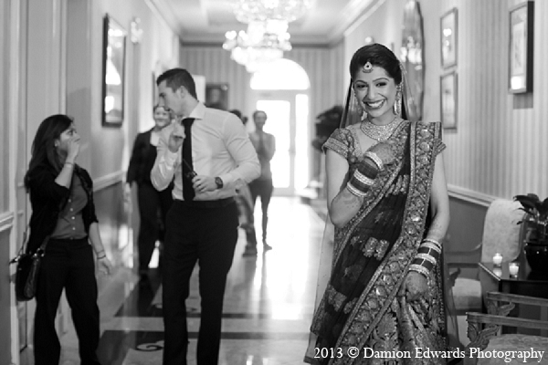 Indian wedding bride portrait lengha in Rockleigh, New Jersey Indian Wedding by Damion Edwards Photography