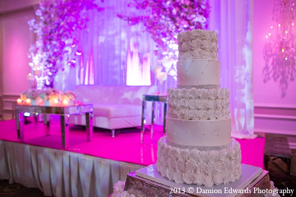 Indian Wedding Cake Decor Pink Floral Photo 12507