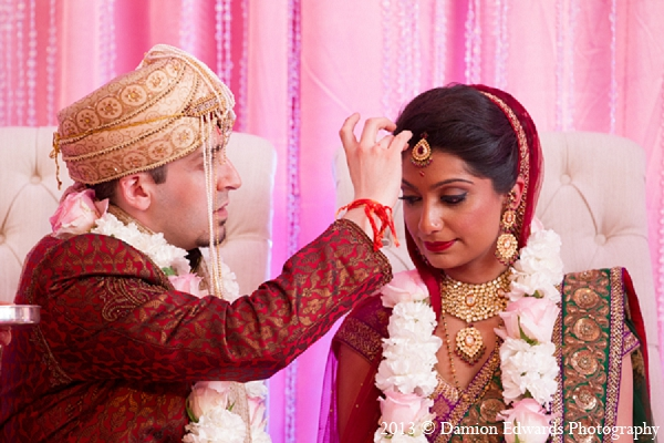 Indian wedding ceremony bride groom in Rockleigh, New Jersey Indian Wedding by Damion Edwards Photography