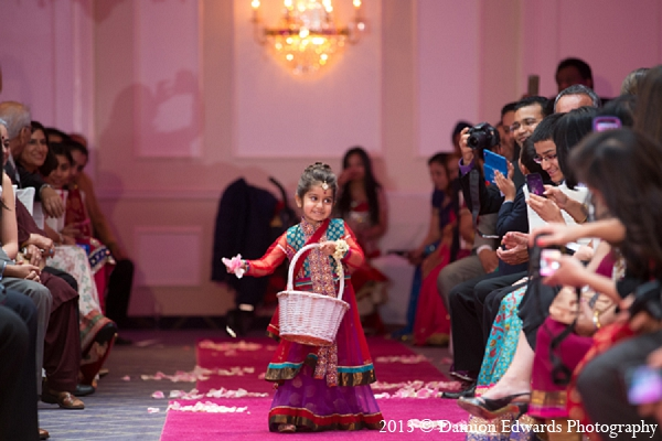 Indian wedding ceremony flower girl in Rockleigh, New Jersey Indian Wedding by Damion Edwards Photography