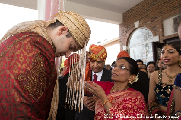Indian wedding groom baraat ceremony in Rockleigh, New Jersey Indian Wedding by Damion Edwards Photography