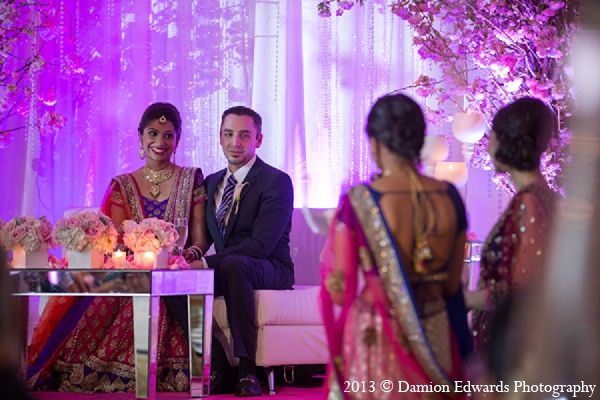 Indian wedding reception bride groom speeches in Rockleigh, New Jersey Indian Wedding by Damion Edwards Photography