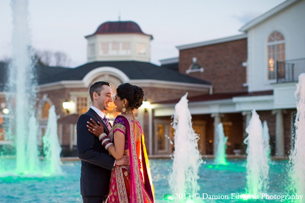 Indian wedding reception portraits bride groom in Rockleigh, New Jersey Indian Wedding by Damion Edwards Photography