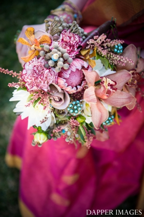 Indian wedding bridal bouquet colorful inspiration ideas