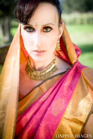 Indian wedding bridal hair and makeup inspiration