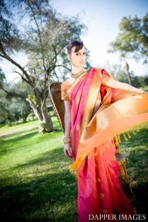 Indian wedding bridal hair and makeup fashions