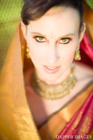 Indian wedding bridal hair and makeup inspiration