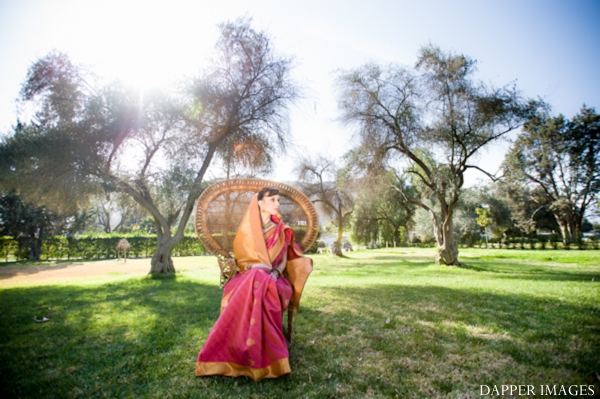 Indian wedding bridal portrait outdoors