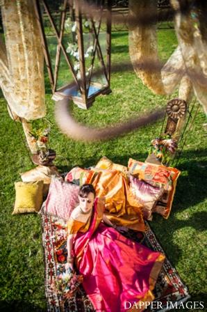 Indian wedding bridal portrait out doors inspiration