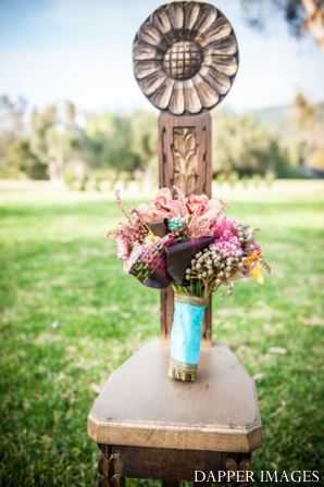 Indian wedding bridal bouquet inspiration colorful