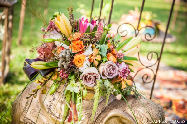 Indian wedding floral and decor inspiration colorful