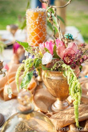 Indian wedding floral table setting ideas