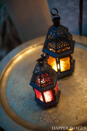 Indian wedding lantern lighting