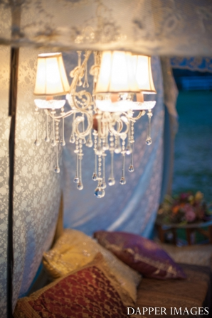 Indian wedding reception decor ideas chandelier