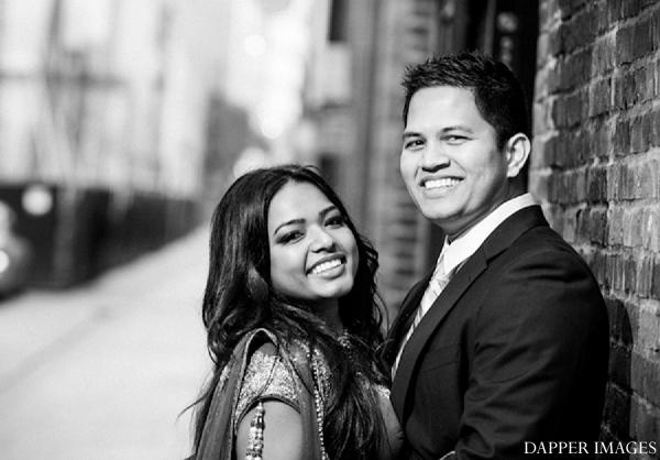 Indian wedding engagement black and white smile in Sunday Sweetheart Winners ~ Kazi and Malyha by Dapper Images
