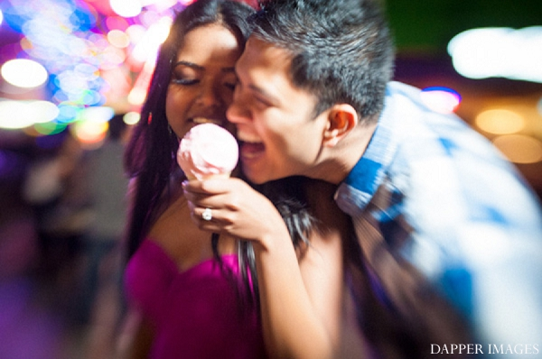 Indian wedding engagement carnival bride and groom ice cream in Sunday Sweetheart Winners ~ Kazi and Malyha by Dapper Images