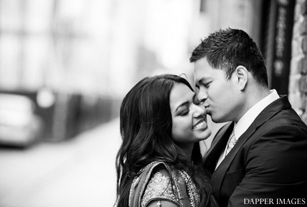 Indian wedding engagement black and white in Sunday Sweetheart Winners ~ Kazi and Malyha by Dapper Images