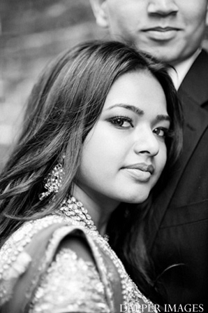 Indian wedding engagement bride black and white in Sunday Sweetheart Winners ~ Kazi and Malyha by Dapper Images