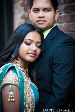 Indian wedding engagement groom and bride color serious in Sunday Sweetheart Winners ~ Kazi and Malyha by Dapper Images
