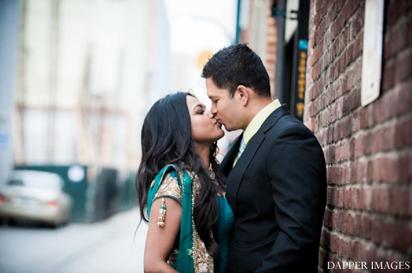 Indian wedding engagement kissing portraits in Sunday Sweetheart Winners ~ Kazi and Malyha by Dapper Images