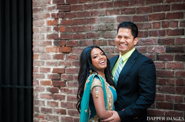 Indian wedding engagement laughing portrait in Sunday Sweetheart Winners ~ Kazi and Malyha by Dapper Images