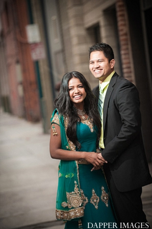 Indian wedding engagement laughing portraits in Sunday Sweetheart Winners ~ Kazi and Malyha by Dapper Images